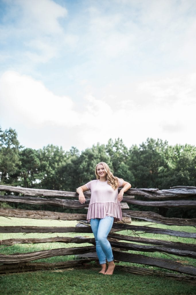 Senior photography in Savannah, Georgia
